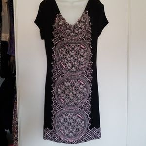INC knit mandala dress